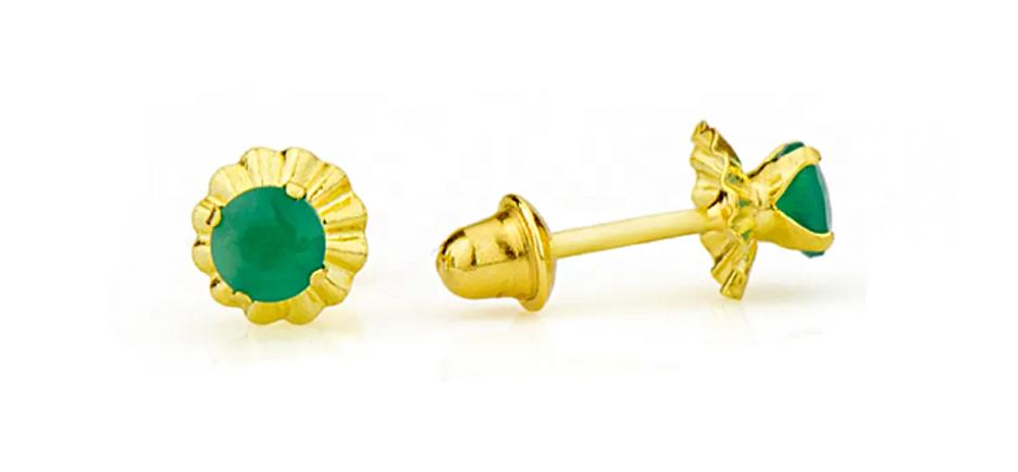 Brinco ouro verde