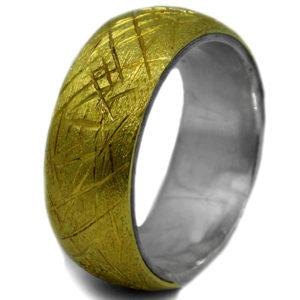 Aliança ouro 18k com Prata