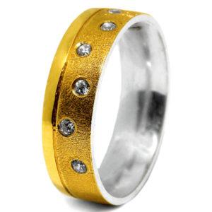 Aliança de Casamento Ouro com Prata