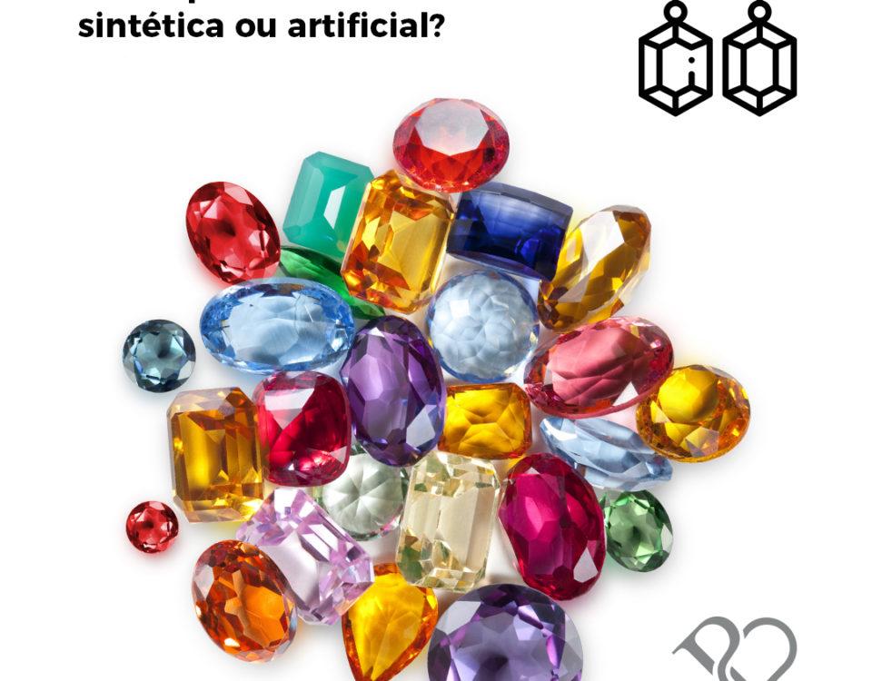 Pedras sintéticas naturais
